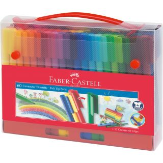 Maletin 60 Rotuladores Faber-Castell Connector Multicolor