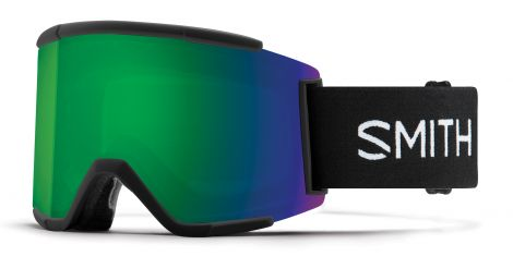 Antiparra Nieve Smith Squad XL Black ChromaPop Sun Green Mirror Negro