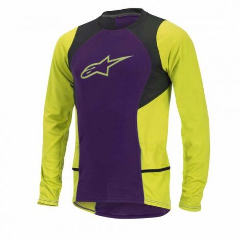 Jersey Alpinestars Drop 2 L/S Purpura/Amarillo M